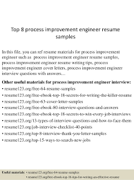 process improvement resumes top 8 process improvement engineer resume samples 1 638 jpg cb 1431767890