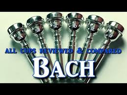 Bach Trumpet Mouthpiece Chart First Ever Review Comparison Of All Bach Trumpet Mouthpiece Cup Sizes By Kurt Thompson
