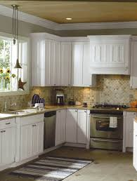 White Cabinets Living Room Kitchen Backsplash Ideas With White Cabinets And Dark
