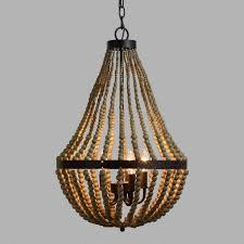 wood bead chandelier awesome small world market in 1