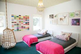 hanging chairs for girls bedrooms. Hanging Collage Kids Eclectic With Shared Bedroom Art Wallpaper Ceiling Chairs For Girls Bedrooms E