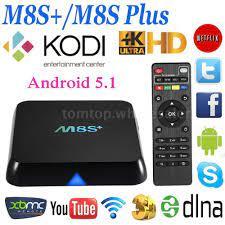 XBMC / KODI Android Windows Smart TV BOX Internet Media Player Mini PC: M8S +/M8S Plus Quad Core Android 5.1 Smart TV BOX XBMC Kodi Fully L…