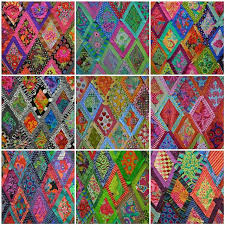 17 Best images about Bordered diamonds by kaffe fasett on ... & I ❤ to quilt . . . Lovely design walls created at the Kaffe Fassett workshop Adamdwight.com