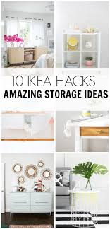 Check out these 10 IKEA HACKS- amazing storage