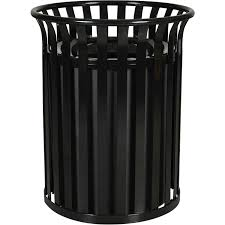 heavy duty 35 5 gallon capacity outdoor steel garbage receptacle