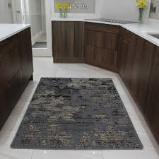 brown rubber backed modern kitchen rug flat weave easy clean