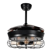 retractable ceiling fan with light