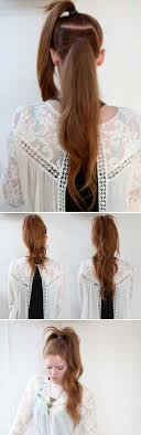 Quick Ponytail Hairstyles 25 Best Ideas About Long Ponytails On Pinterest Shorter Length