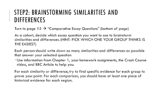 friday st ap world history today you will need step2 brainstorming similarities and differences turn to page 15 iuml131nbsp comparative essay questions bottom