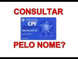 consultar cpf pelo nome é possível