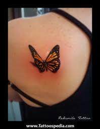 3d Butterfly Tattoo Design On Back Shoulder Tattoos Book 65000