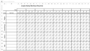 Gym Workout Sheet Printable Workout Log Printable Blank Workout Log
