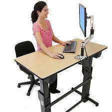 stand at desk standing desks and adjule up ergotron 6