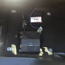 amp install on 2016 gt bose had to remove the battery to gain access to the engine harness grommet i cut off the nipple from the engine bay side and there is a hole already on the