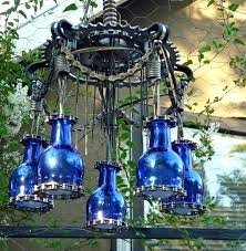 outdoor chandelier lights picture of outdoor chandelier lighting made with trash and paint diy outdoor chandelier
