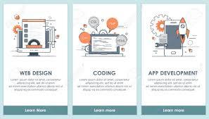 Ux Flat Design Flat Design Programming And Software App Screens Modern User