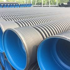 factory black large diameter hdpe double wall corrugated drainage pipe