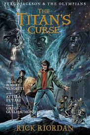 riordan reveals cover for new percy jackson graphic novel