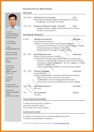 Standard Format For Resume Standard Resume Format For Engineers Standard Format Resume Free 6