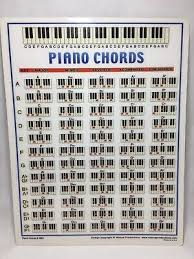 Piano Chord Chart Portable Keyboard Notes Best Beginner