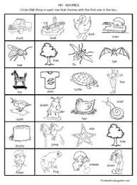 Small Picture free printable rhymes rhyming words worksheets for preschool