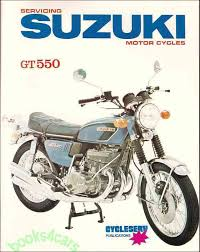 suzuki manuals at com 72 74 gt550 triple shop service repair manual for suzuki for gt 550 in 77 pages including color wiring diagrams 75 cs s68x