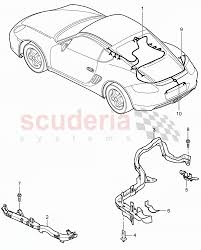 wiring harnesses engine rear end license plate light parkassist porsche cayman 2006 wiring harnesses engine rear end license plate light parkassist repair kits enlarge diagram