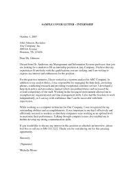 Cover Letter Samples For Internship Resume Badak