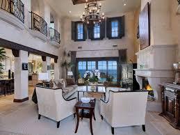 Molding For Living Room Mediterranean Living Room With Columns Limestone Tile Floors