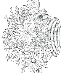 Flower Coloring Pages Printable Rose Free Pot Interactive