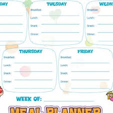 meal planning chart resources super healthy kids