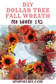 dollar tree diy fall wreath for under 15