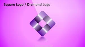 8 Design Square Diamond Shape Logo In Powerpoint Powerpoint