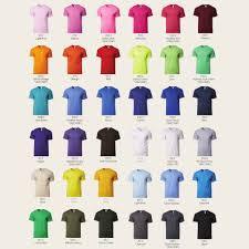 Gildan Shirt Color Chart 2016 Gildan Premium Cotton Adult T Shirts 76000