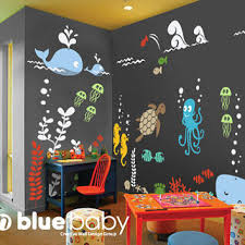 wall decal underwater playroom decal ocean theme playroom nurs