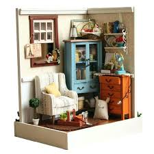 miniature furniture plans. Miniature Dollhouse Furniture Home Decoration Crafts Doll House Wooden Houses Kit Room Led Plans