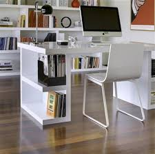 furniture for small office. Tidy Bookshelves In White Small Office Desk Placed Stylish Home With Chair Furniture For I