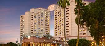 hilton long beach hotel ca hotel exterior at dusk