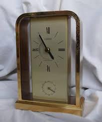 vintage linden westminster brass clock