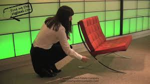 Mies Van Der Rohe Barcelona Chair By Find Me The Original Youtube