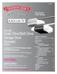 overhead door legacy 696cd b manual overhead garage door
