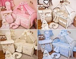 luxury 10 piece baby cot bedding set cotbed nursery canopy net sleeping bear