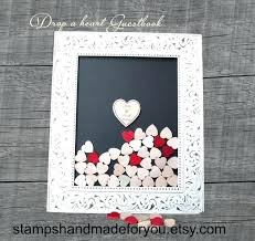 drop box guestbook wedding guest book shabby chic alternative frame with wooden hearts diy gue