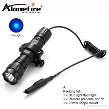 Blue Light Hunting Alonefire 501bs Led Blue Light Tactical Flashlight Hunting Torch Lighting Tactical Mount Remote Switch For 18650 Battery Flashlight Pouch Cop
