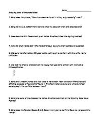 bury my heart at wounded knee teaching resources teachers pay   bury my heart at wounded knee movie worksheet