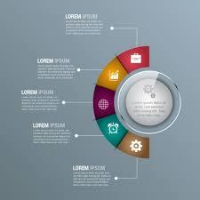 Corporate Infographics Template Modern Shiny Semicircular