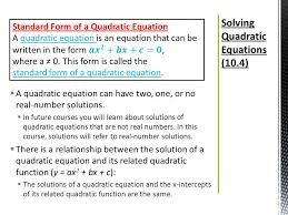 19 solving quadratic equations