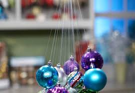 tie strands together make hanging ornament chandelier