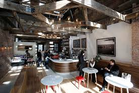 Toby's Estate Coffee in Long Island City by Studio Vural. Photography by  Kate Glicksberg.