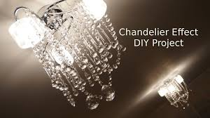 how to glass chandelier effect ceiling light makeover diy project home decor